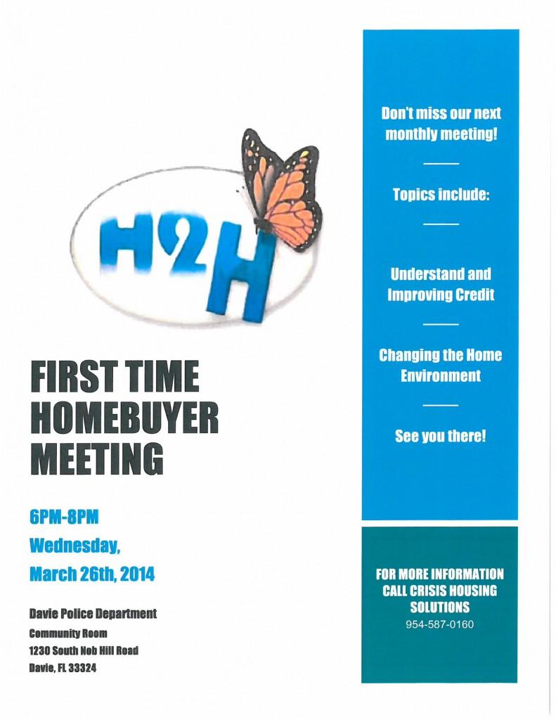 H2H March Flyer