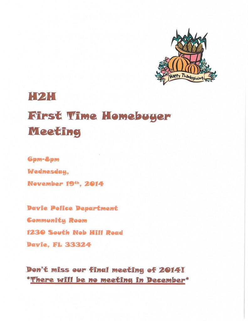 H2H NOVEMBER 2014 FLYER